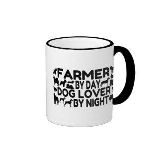 Dog Lover Farmer Ringer Coffee Mug