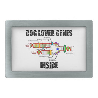 Dog Lover Genes Inside (DNA Replication) Rectangular Belt Buckle