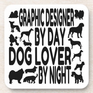 Dog Lover Graphic Designer Coaster