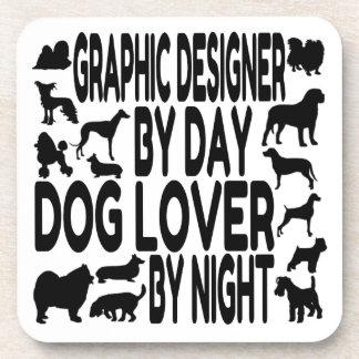 Dog Lover Graphic Designer Coaster
