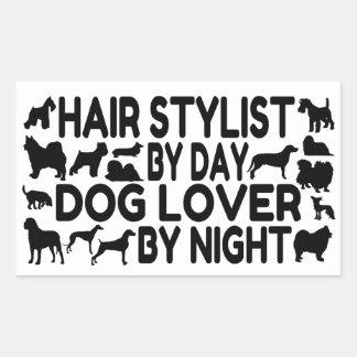 Dog Lover Hair Stylist Rectangular Sticker
