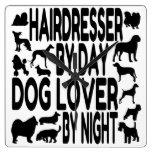 Dog Lover Hairdresser Clocks