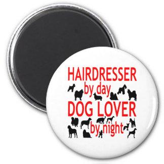 Dog Lover Hairdresser in Red Magnet