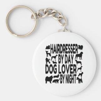 Dog Lover Hairdresser Basic Round Button Keychain