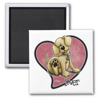 Dog Lover - Heart 2 Inch Square Magnet