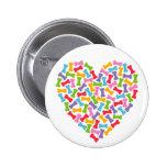 Dog Lover Heart Pins