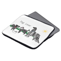 Neoprene Laptop Sleeve 13 inch with Poodle Phone Cases design