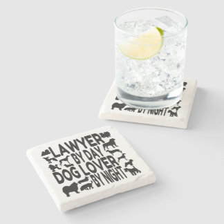 Dog Lover Lawyer Stone Coaster