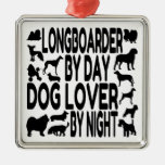 Dog Lover Longboarder Ornament