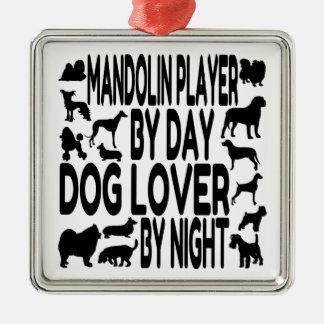 Dog Lover Mandolin Player Christmas Ornament
