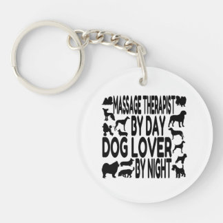 Dog Lover Massage Therapist Double-Sided Round Acrylic Keychain