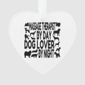 Dog Lover Massage Therapist Ornament
