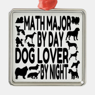 Dog Lover Math Major Metal Ornament