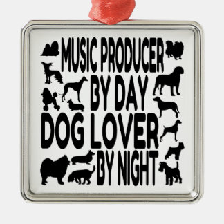 Dog Lover Music Producer Christmas Ornament