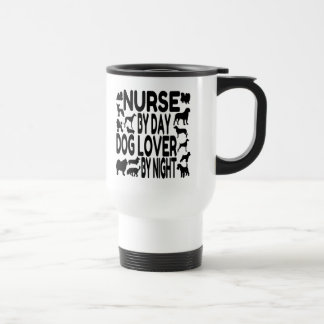 Dog Lover Nurse 15 Oz Stainless Steel Travel Mug