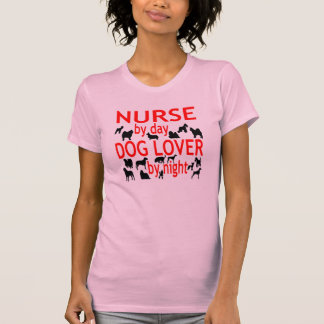 Dog Lover Nurse in Red Shirt
