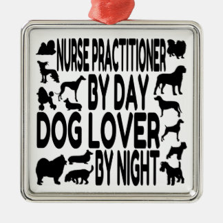 Dog Lover Nurse Practitioner Christmas Tree Ornament