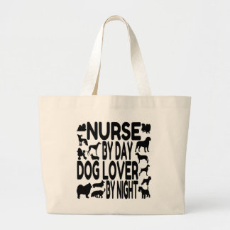 Dog Lover Nurse Tote Bags