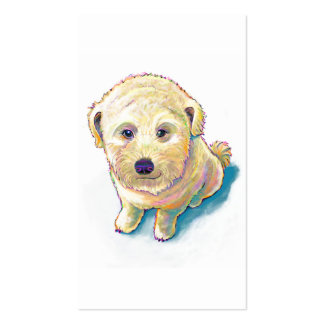 Dog lover painting original art whoodle wheaten business card