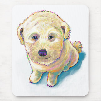Dog lover painting original art whoodle wheaten mouse pad
