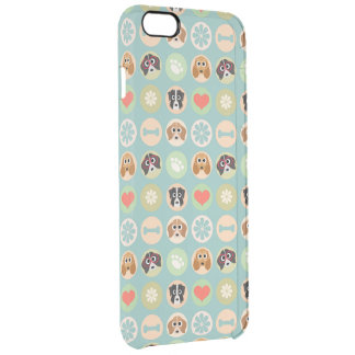 Dog Lover Pattern Clear iPhone 6 Plus Case
