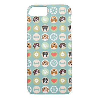 Dog Lover Pattern iPhone 7 Case