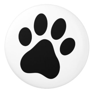 Dog Lover Paw Print Drawer Pull Pet Rescue