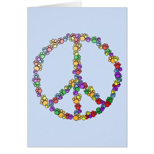 Dog Lover Peace Card