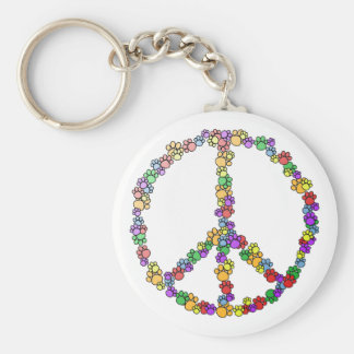 Dog Lover Peace Key Chains