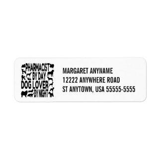 Dog Lover Pharmacist Return Address Label