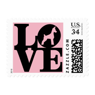 Dog Lover PINK 1st Class Letter Stamp