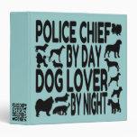 Dog Lover Police Chief Vinyl Binder