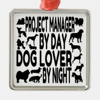 Dog Lover Project Manager Metal Ornament