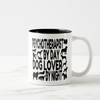 Dog Lover Psychotherapist Two-Tone Coffee Mug