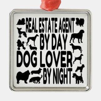 Dog Lover Real Estate Agent Metal Ornament