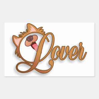 Dog Lover Rectangular Sticker