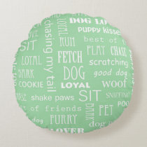 Dog Lover Round Pillow