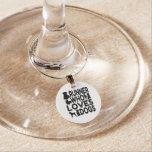 Dog Lover Runner Wine Glass Charm