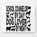 Dog Lover School Counselor Mouse Pad