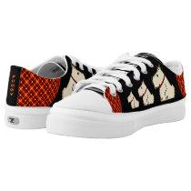 Dog-Lover Scottish Tartan Saddle Shoes Personalize