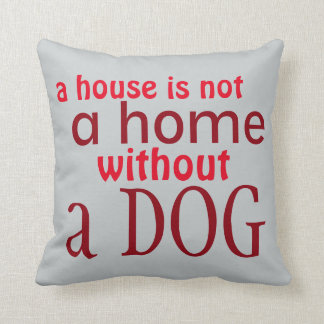 Dog lover simple saying decorative red pillow