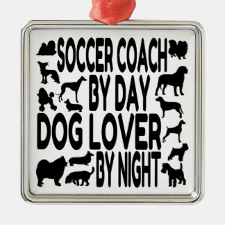 Dog Lover Soccer Coach Christmas Ornament