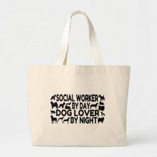 Dog Lover Social Worker Large Tote Bag