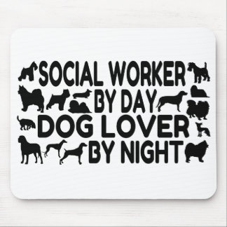 Dog Lover Social Worker Mouse Pad