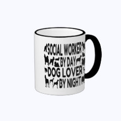 Dog Lover Social Worker Mugs