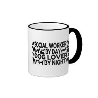 Dog Lover Social Worker Ringer Coffee Mug