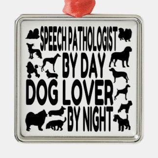 Dog Lover Speech Pathologist Christmas Tree Ornament
