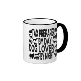 Dog Lover Tax Preparer Ringer Coffee Mug