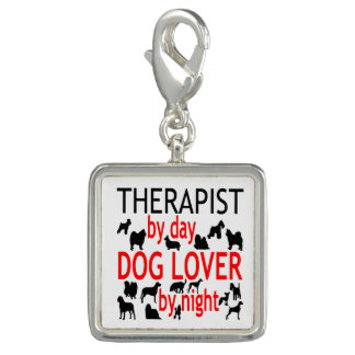 Dog Lover Therapist in Red Photo Charms