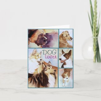 DOG Lover Watercolor Portraits Notecards